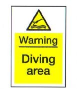 Warning Diving Area
